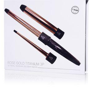 HerStyler Rose Gold Titanium 3P Curler box