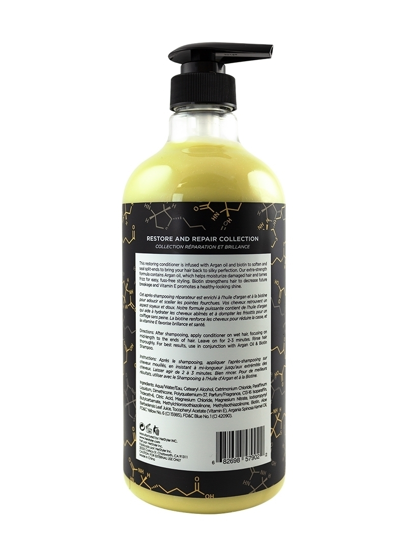 Argan Oil Biotin Conditioner 1 Liter Back