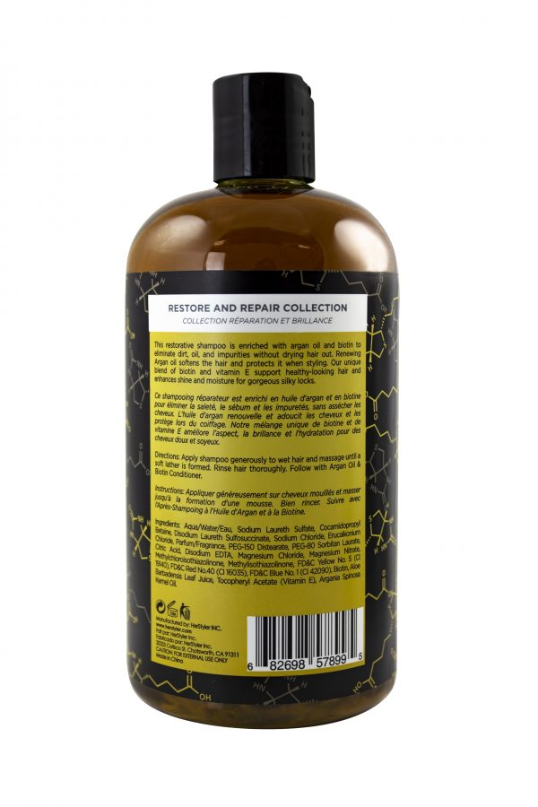 back of argan shampoo 500ml