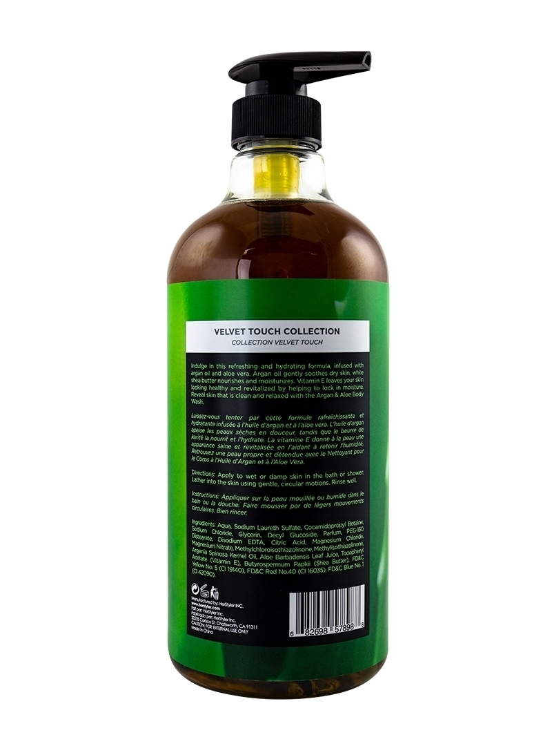 Argan Oil and Aloe Body Wash 1 Liter Back