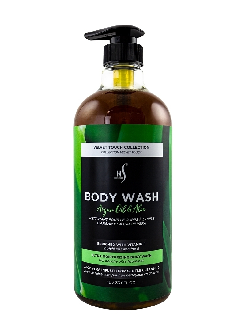 Argan Oil and Aloe Body Wash 1 Liter Front