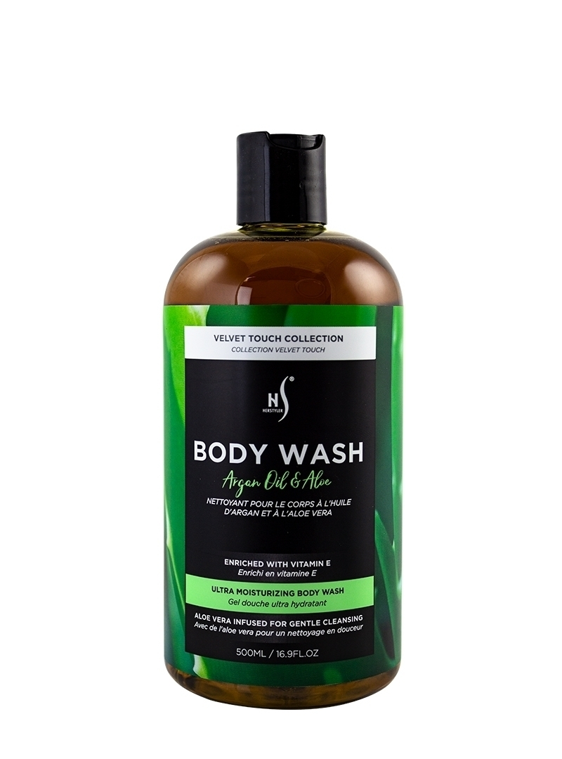Argan Oil and Aloe Body Wash 500ml Front