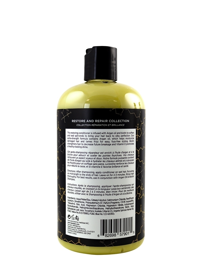 Argan Oil and Biotin Conditioner 500ml Back