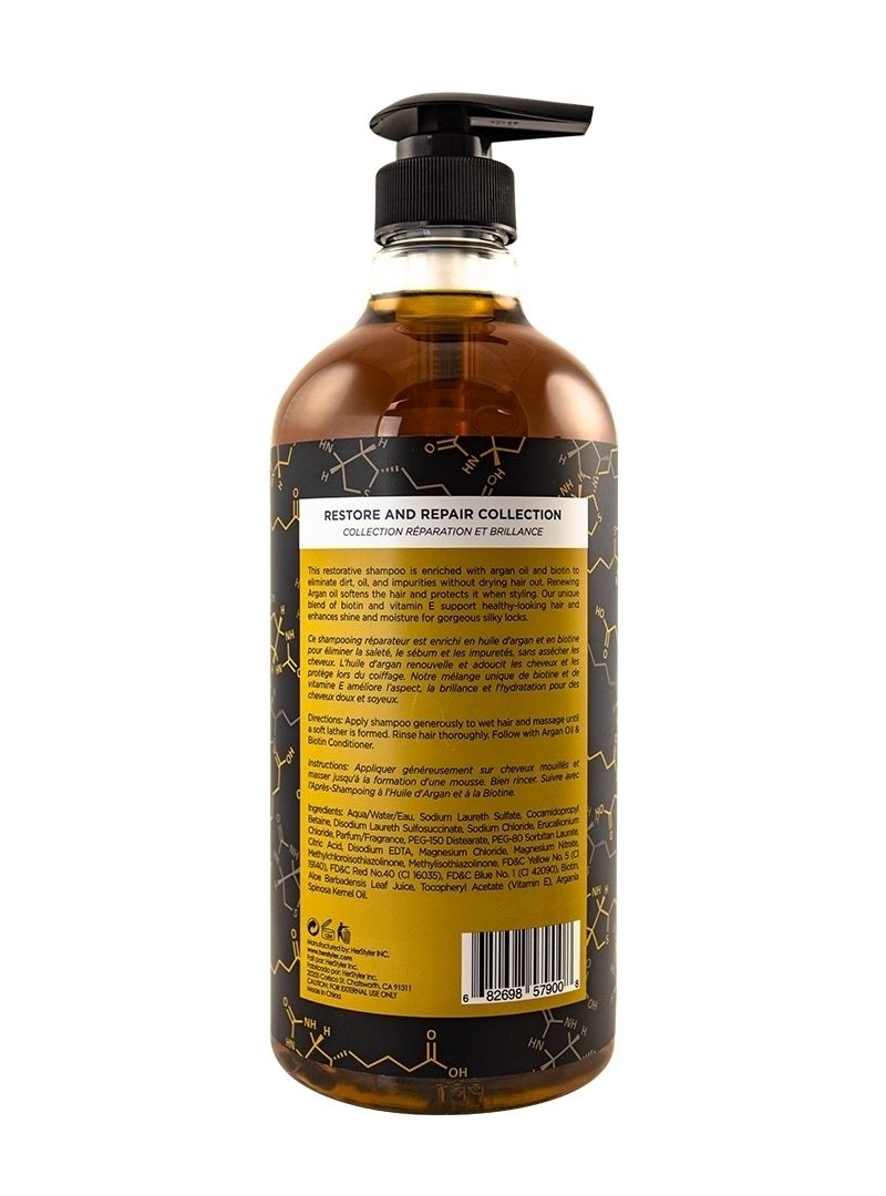 Argan Oil and Biotin Shampoo 1 Liter Back