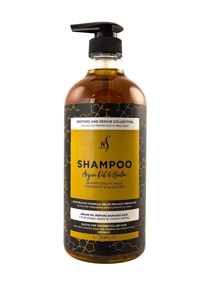 Argan Oil and Biotin Shampoo 1 Liter Front