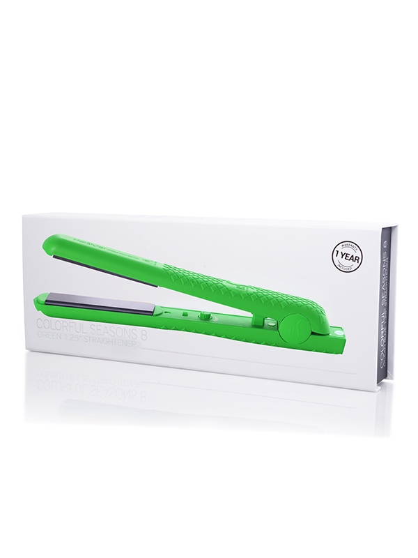 HerStyler Colorful Seasons 8 Green straightener box