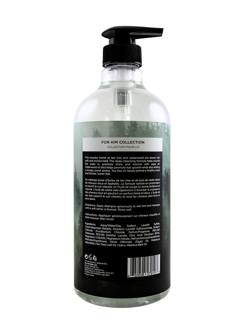 Cedarwood Oil and Tea Tree Shampoo 1 Liter Back