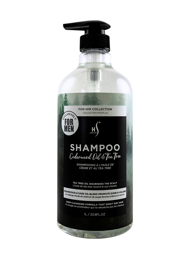 Cedarwood Oil and Tea Tree Shampoo 1 Liter Front