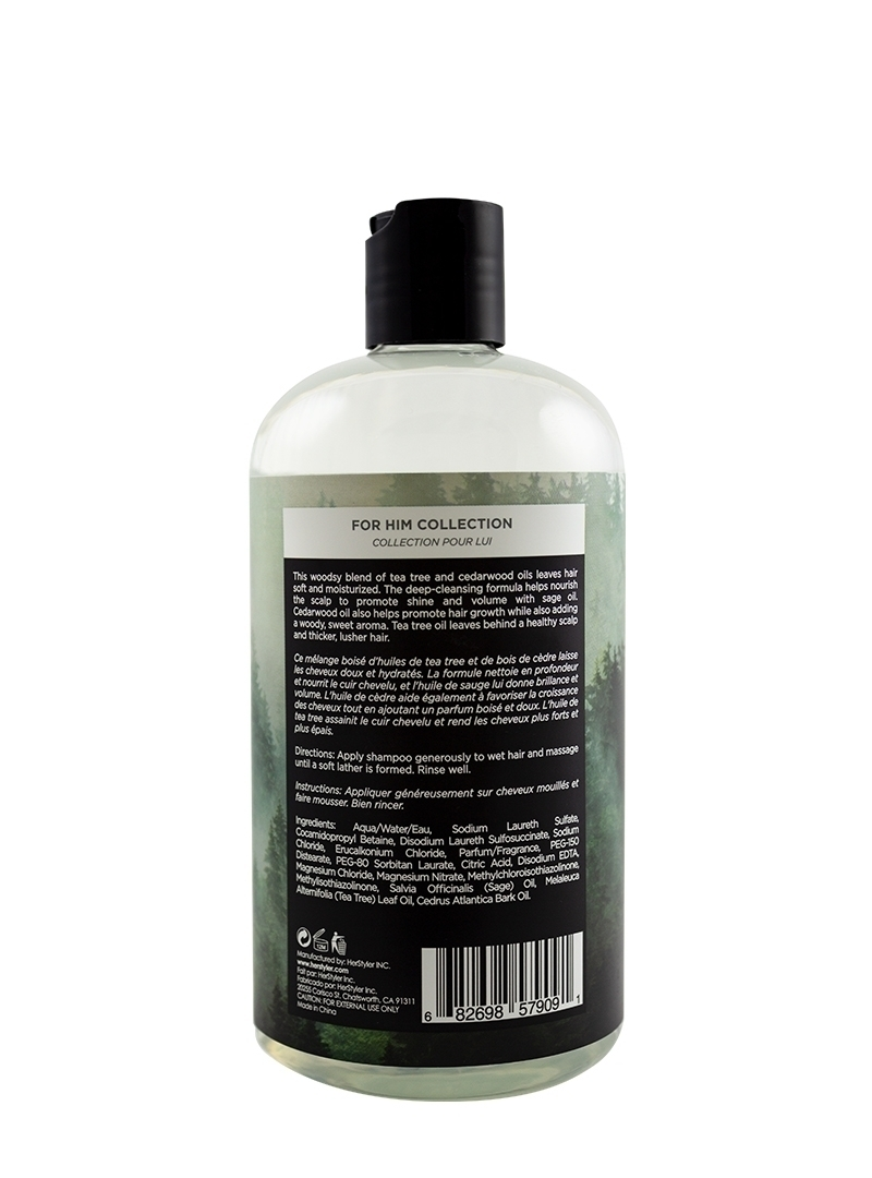 Cedarwood Oil and Tea Tree Shampoo 500ml Back