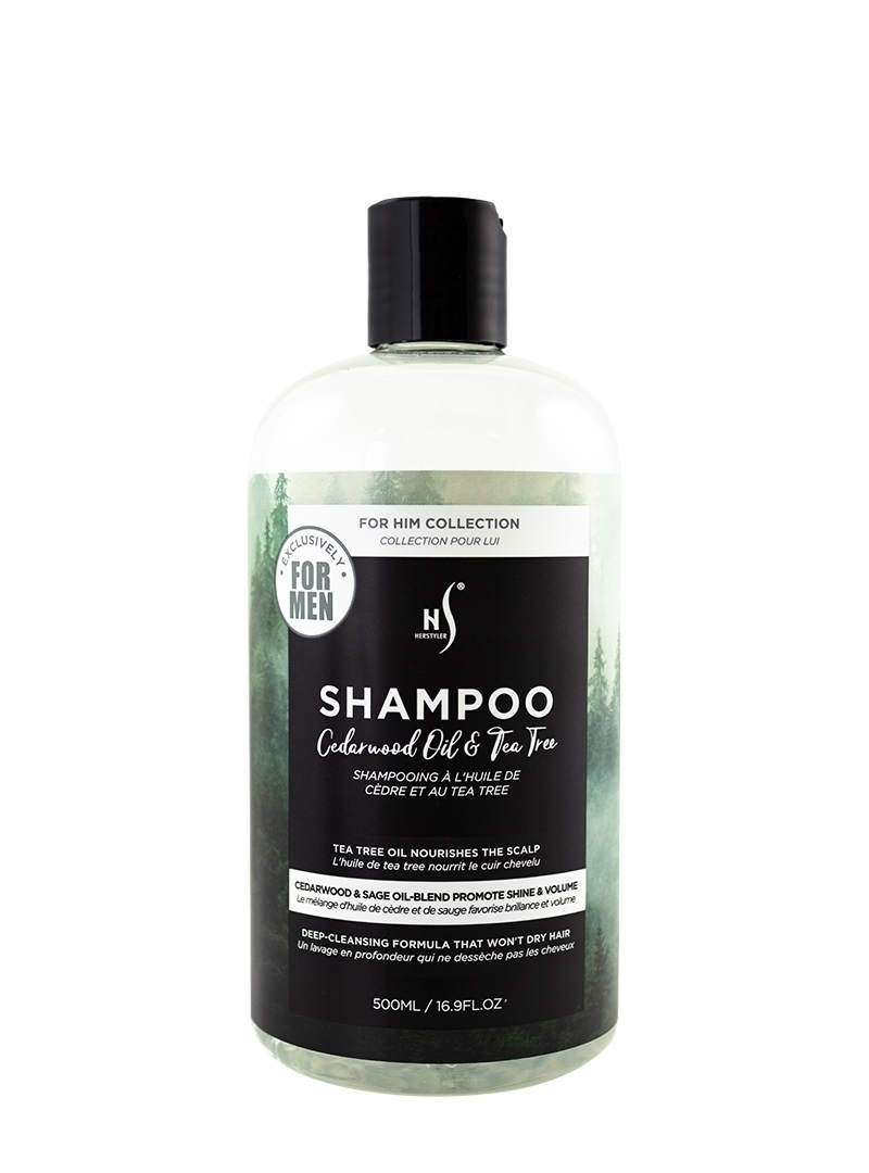 Cedarwood Oil and Tea Tree Shampoo 500ml Front