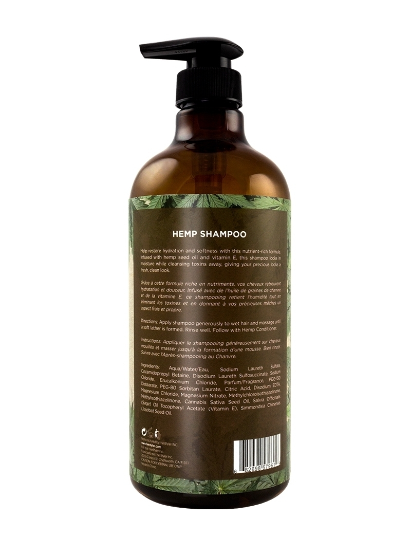 Hemp Shampoo Back