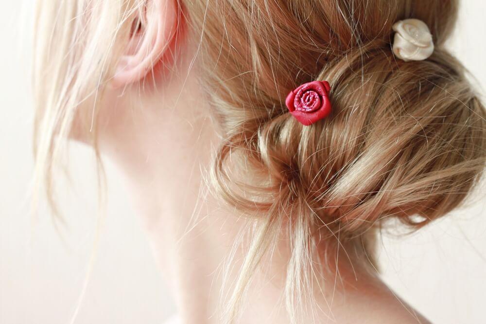 Floral hair ornamentation