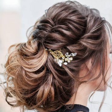 Woman with hair ornamentation