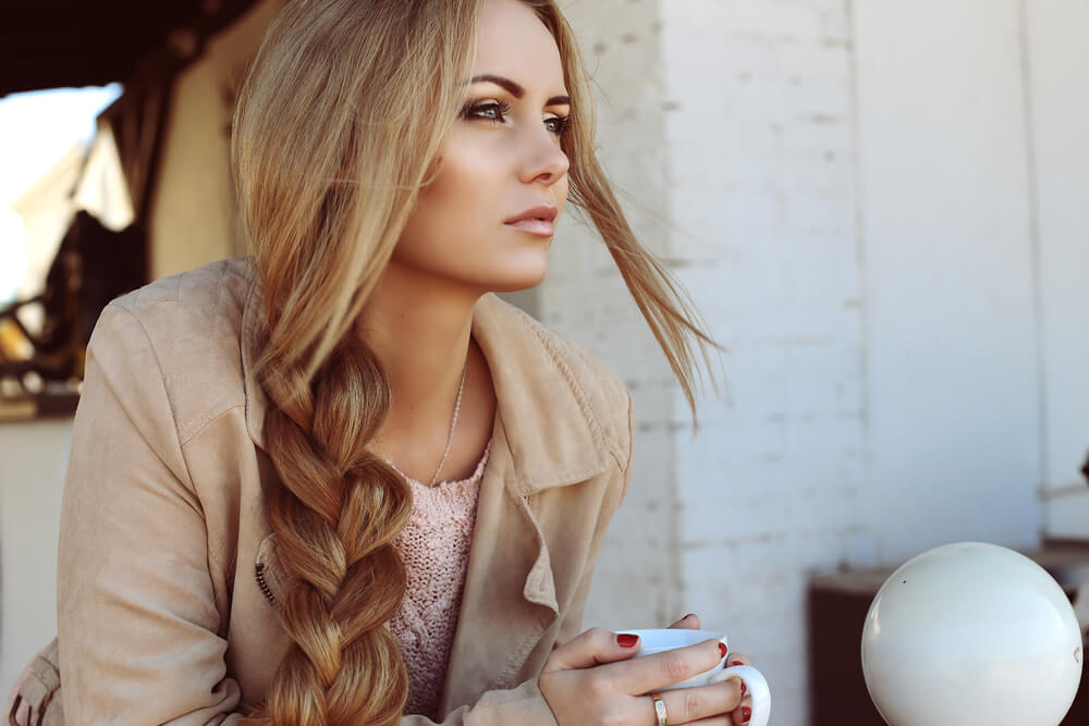 Woman with braid hairstyles 2021