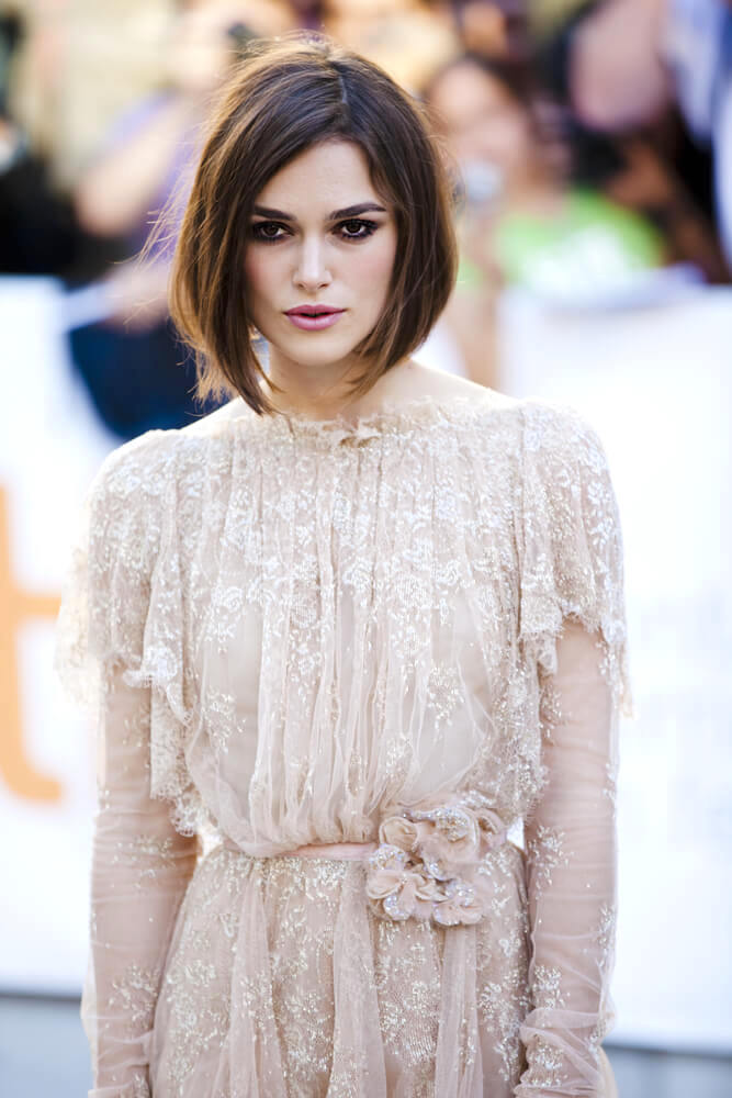 """Keira Knightley graces the TIFF red carpet at the screening of """"A Dangerous Method"""" on September 13, 2011 in Toronto"""