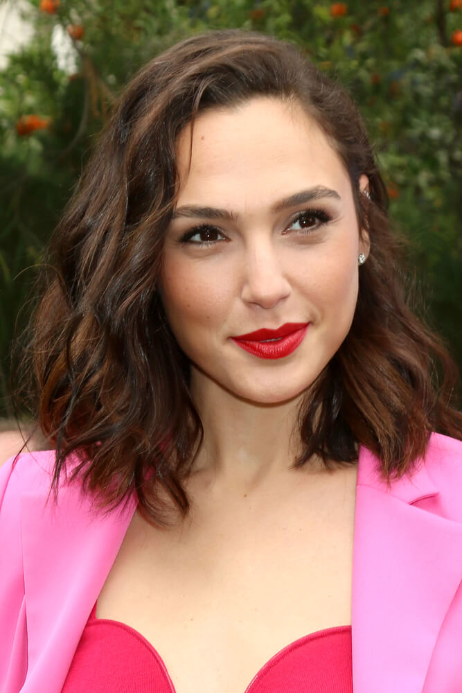 Gal Gadot with a messy lob