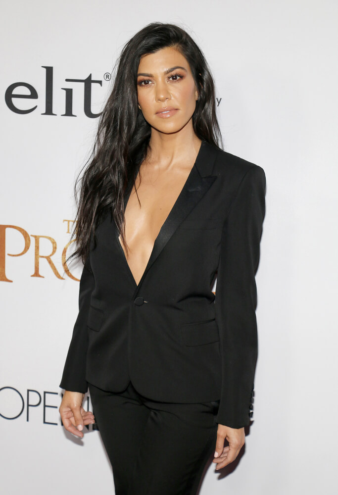 Kourtney Kardashian at a premier