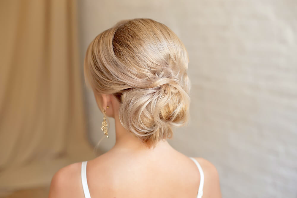 Low textured chignon