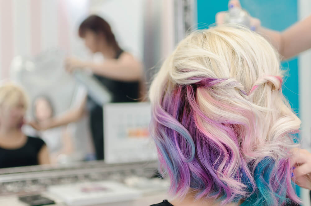 Pastel ombre hair color