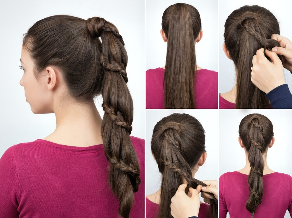 Braid-Wrapped Ponytail