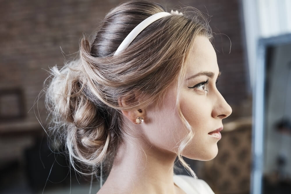 Knotted bun up-do