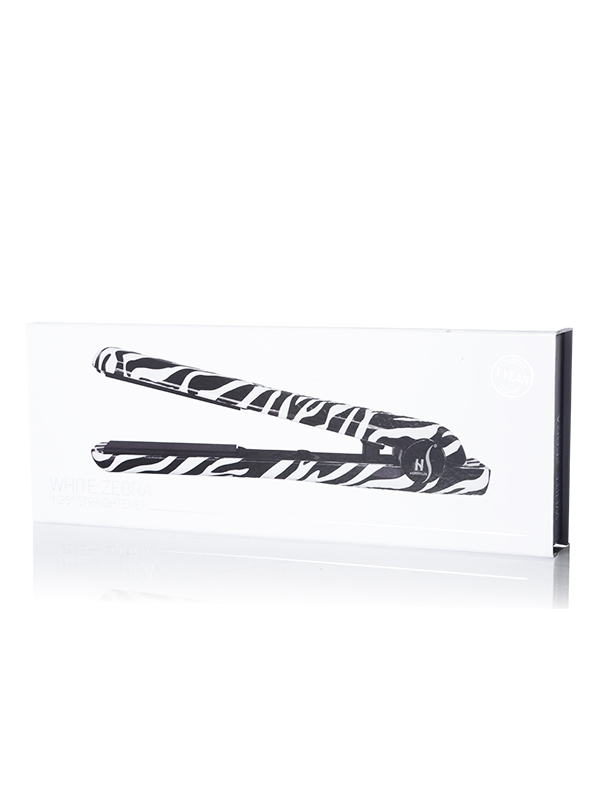 HerStyler White Zebra Straightener Box